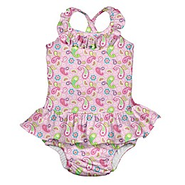 i play.® Paisley Swimsuit with Built-In Swim Diaper in Pink