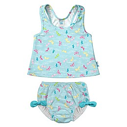 i play.® 2-Piece Dragonfly Pond Tankini with Swim Diaper Set in Aqua