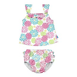i play.® 2-Piece Floral Tankini with Swim Diaper Set in White