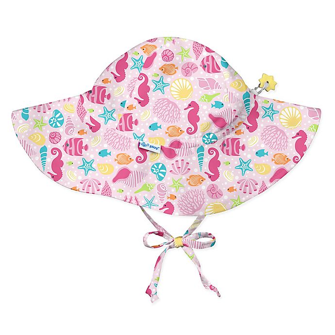 Alternate image 1 for i play.® Size 9-18M Sealife Brim Sun Hat in Pink