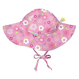 i play.® Floral Brim Sun Hat in Hot Pink