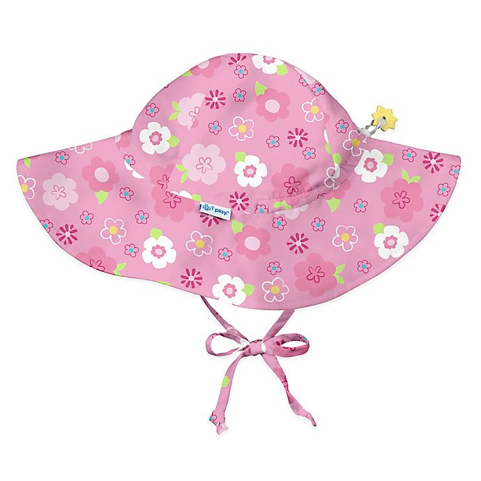 Alternate image 1 for i play.® Floral Brim Sun Hat in Hot Pink