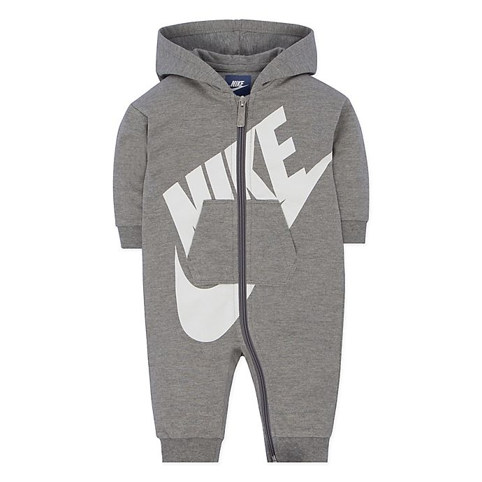 473288396 Nike® Futura Coverall in Heather Grey | buybuy BABY