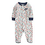 Nike® Size 6M Logo Print Footed Coverall in Grey