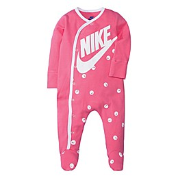 Nike® Smiley Print Footed Coveralls in Pink