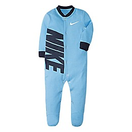 Nike® Swoosh Footie in Light Blue