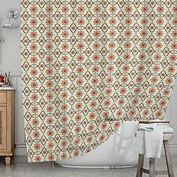 KESS InHousereg Floral Peach Shower Curtain