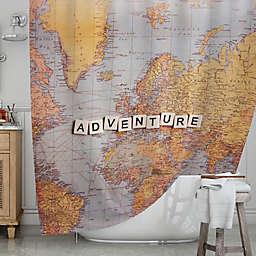 KESS InHousereg Adventure Map Shower Curtain