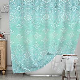 KESS InHouse® Medallion Aqua Ombre Shower Curtain