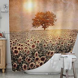 KESS InHousereg Tree And Sunflowers Shower Curtain