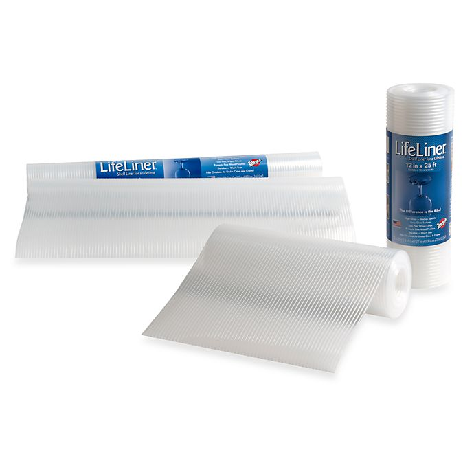 Alternate image 1 for Warp Brothers® Lifeliner® Clear Cabinet Non-Adhesive Shelf Liner