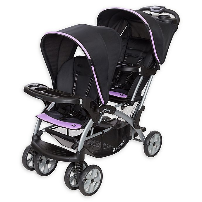 Baby Trend 174 Sit N Stand 174 Double Stroller In Optic Violet