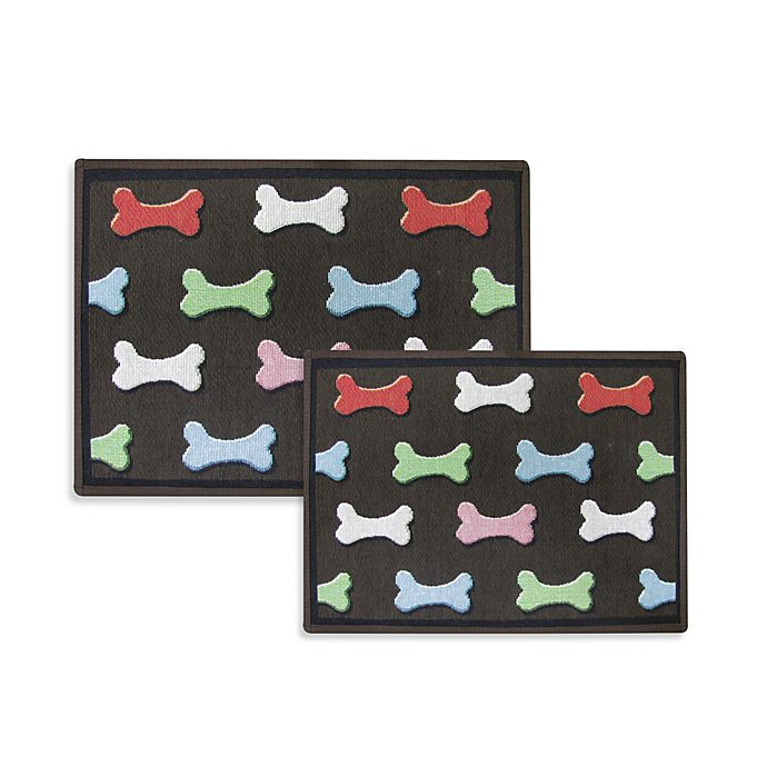 Pb Paws Pet Collection Bone Collection Pet Mats Multi