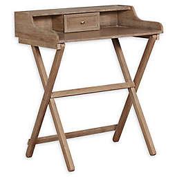 Linon Home Jackson 1-Drawer Folding Desk in Grey Wash