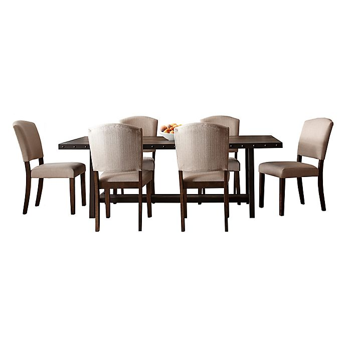 Alternate image 1 for Hillsdale Furniture Jennings 7-Piece Dining Set with Emerson Chairs in Walnut/Oyster