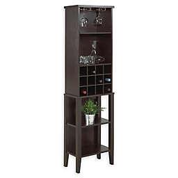 Brassex Florence Wine Cabinet in Dark Cherry