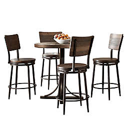 Hillsdale Furniture Jennings 5-Piece Round Counter-Height Dining Set with Swivel Stools
