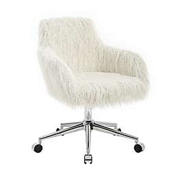 Linon Home Fiona Faux Fur Office Chair