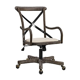 Linon Home Caspian Café Office Chair in Grey Wash