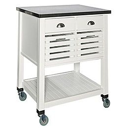 Linon Home Robbin Kitchen Cart in White