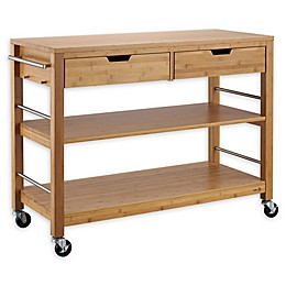 Trinity Bamboo Kitchen Island with Drawers