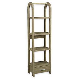 Brassex Inc 4-Tier Display Shelf with Storage Drawer