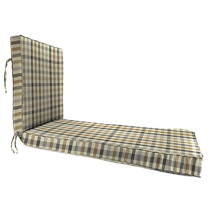 Alternate image 1 for Print 80-Inch x 23-Inch Chaise Lounge Cushion in Sunbrella® Connect Dune