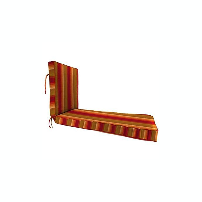 Alternate image 1 for Stripe 80-Inch x 23-Inch Chaise Lounge Cushion in Sunbrella® Astoria Sunset