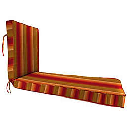 Stripe 80-Inch x 23-Inch Chaise Lounge Cushion in Sunbrella® Astoria Sunset