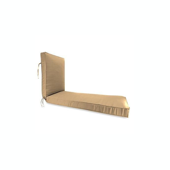 Alternate image 1 for Solid  80-Inch Boxed Edge Chaise Lounge Cushion in Sunbrella® Canvas Camel