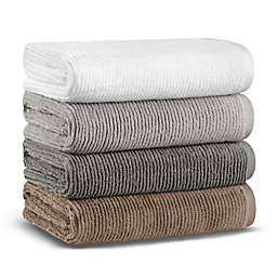 Casual Avenue Fibrosoft Slim Ribbed Bath Towel Collection