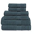 Wamsutta® Icon PimaCott® 6-Piece Bath Towel Set in Steel Blue