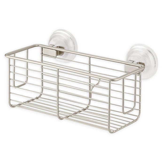 Alternate image 1 for iDesign® Classico Suction Basket in Matte Satin
