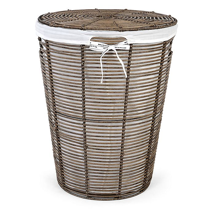 Bee Willow Home Poly Rattan Laundry Hamper With Liner
