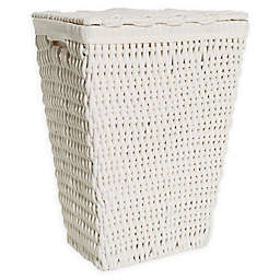 Bee & Willow™ Home Cotton Rope Laundry Hamper with Lid in White