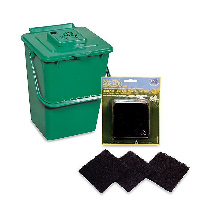 Kitchen Compost Container: Green Kitchen Compost Pail