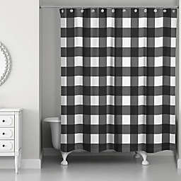 Designs Direct Buffalo Check Shower Curtain In Black