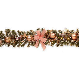 National Tree Company 72-Inch Pre-Lit LED Evergreen Garland in Silver
