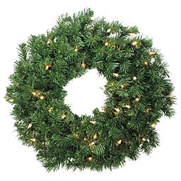 Northlight 24-Inch Pre-Lit Artificial Deluxe Windsor Holiday Wreath