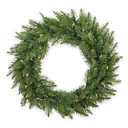 24-Inch Essex Pre-Lit Artificial Christmas Wreath