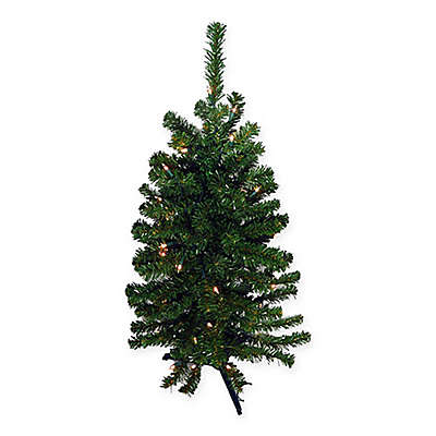 3-Foot Canadian Pine Pre-Lit Artificial Christmas Tree