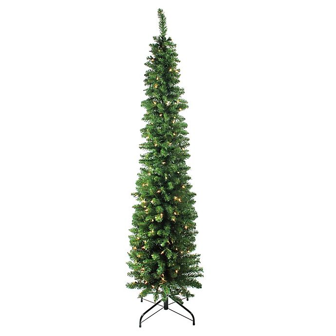 Pencil Drawing Of Christmas Tree: Northlight 6-Foot Traditional Pre-Lit Pencil Christmas