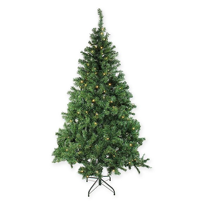 Alternate image 1 for 6-Foot Pre-Lit Mixed Classic Artificial Christmas Tree with Clear Lights