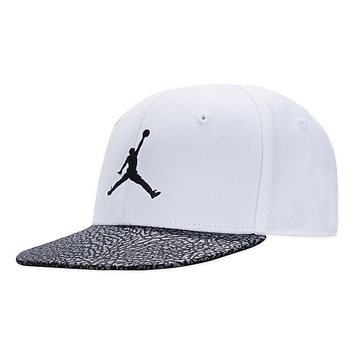 Alternate image 1 for Nike® Jordan Logo Hat in White/Black