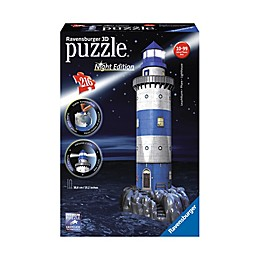 Ravensburger 216-Piece 3D Lighthouse - Night Edition Puzzle