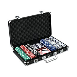 John N. Hansen Co. Classic Game Collection 300-Piece Poker Game Set in Black Aluminum Case