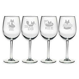 Susquehanna Glass Infoxicated Assorted Wine Glasses (Set of 4)