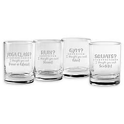 Susquehanna Glass I Thought You Said That Assorted Rocks Glasses (Set of 4)
