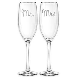 Susquehanna Glass Mr. & Mrs. Grand Flutes (Set of 2)