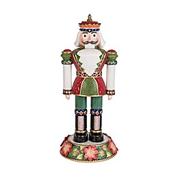 Fitz and Floyd® 16.75-Inch Holiday Poinsettia Nutcracker